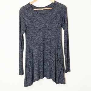 Maurices Heather Grey Tunic Top Size Small